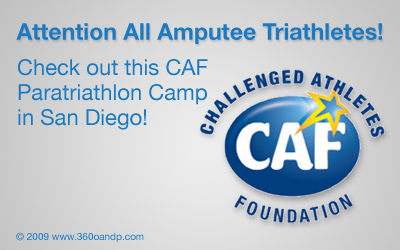 Challenged Athletes Foundation Announcing the Inaugural CAF Paratriathlon Camp